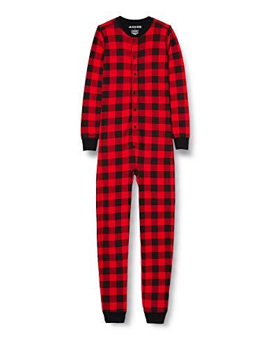Hatley Union Suit Juego de Pijama, Cuadros Buffalo, 6 años Unisex Adulto