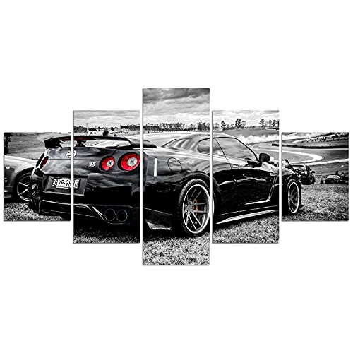 Nissan Skyline GT-R Car Poster Black and White Sports Car Print on Canvas Painting Wall Art for Living Room Decor Boy Gift (Unframed, Nissan 2)