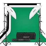 CRAPHY kit d'éclairage Parapluie Studio Photo 1250W 5500K Parapluie...
