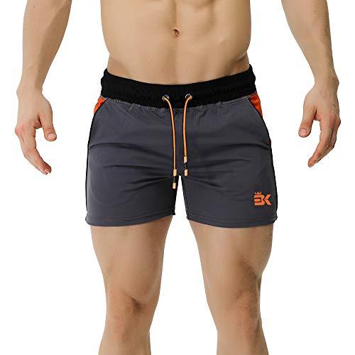 Muscle Alive Herren Bodybuilding-Shorts 7,6 cm Innennaht Baumwolle