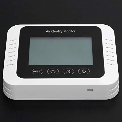 LFLF Rilevatore di Anidride Carbonica Monitor di qualità Ricaricabile da Parete USB