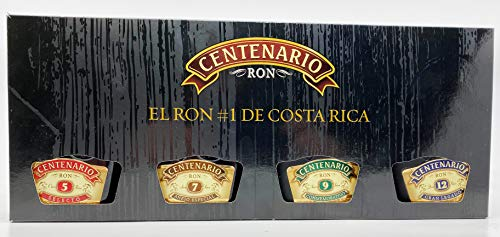 Ron Centenario Rum Tasting Set 4x0,2l - Selecto 5 Anos, 7 Anejo Especial, 9 Conmemorativo, 12 Gran Legado