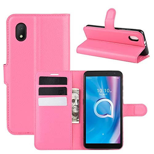Liluyao Fundas para teléfono móvil For Alcatel Caja Protectora (2020) tirón Litchi Textura Horizontal 1B con el sostenedor y Ranuras for Tarjetas y Monedero Estuches para teléfonos celulares