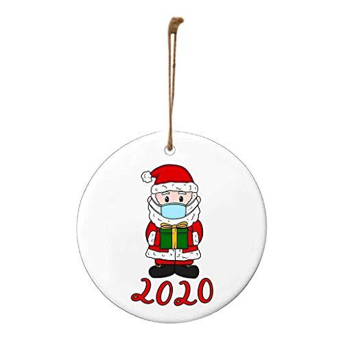 2020 Christmas Ornament - Santa Wearing a Face Mask | Quarantine Survivor Family Customized Christmas Party Decoration Christmas Tree Decorating Set
