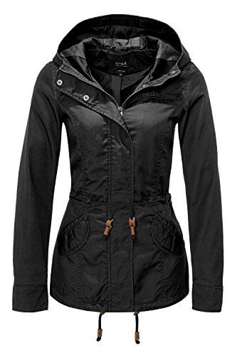 ONLY Damen Jacke Onllorca Spring Parka Jacket CC Otw, Schwarz (Black), Gr. M