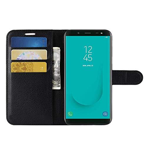 HualuBro Alcatel Idol 3 5.5 Hülle, Premium PU Leder Leather Wallet HandyHülle Tasche Schutzhülle Flip Hülle Cover für Alcatel Onetouch Idol 3 5,5 Zoll Smartphone (Schwarz)