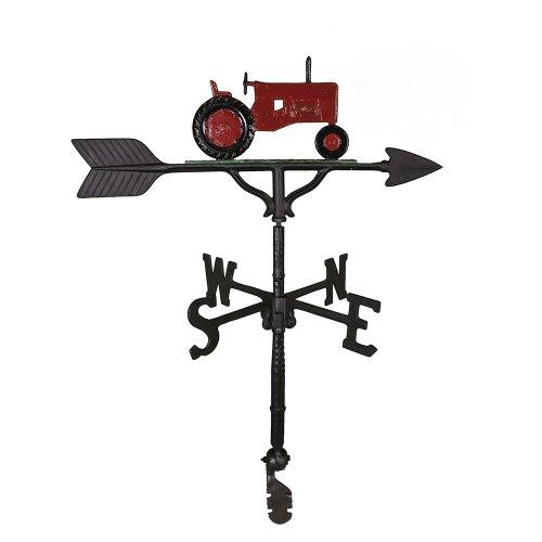 Montague Metal Products Wetterfahne mit rotem Traktor, 81 cm