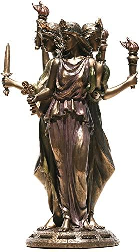 Hecate Hekate Diosa romana griega de la magia estatua escultura acabado bronce 30 cm