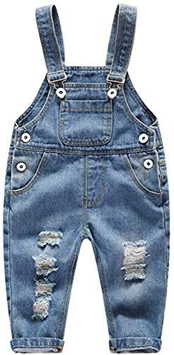 Ladyful Baby Kleinkind Jungen Mädchen Latzhose Jeans Hosen Overall Lange Jumpsuit (Stil 3, 100)