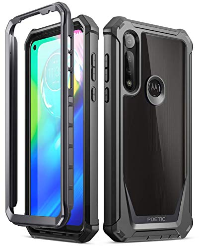 Poetic Guardian Series Case for Moto G Power (2020), [Not Fit 2021 Version & MOTO G8 POWER (INTERNATIONAL VERSION)] Full-Body Hybrid Shockproof Bumper Cover with Built-In-Screen Protector, Black/Clear