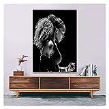 CBYLDDD Serena Williams Tenis Deporte Jugador súper Estrella Pintura Arte Cartel impresión Lienzo decoración para el hogar Imagen impresión de Pared 20x28 Sin Marco