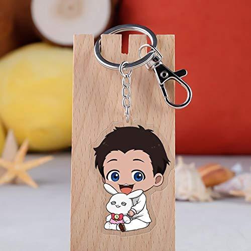 SGOT Anime The Promised Neverland Schlüsselanhänger Keychain Anhänger Acryl Transparent Anhänger Heißer Anime Schlüsselanhänger( H04)