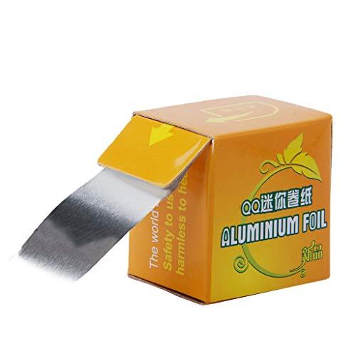 A0127 - Rollo de papel de aluminio para cigarrillos, peluquería, manicura, BBQ, inofensivo