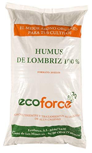 CULTIVERS Humus de Lombriz ecológico 20 kg (40 L). Abono para plantas indicado para tomates y hortalizas. Precio directo de fábrica!!