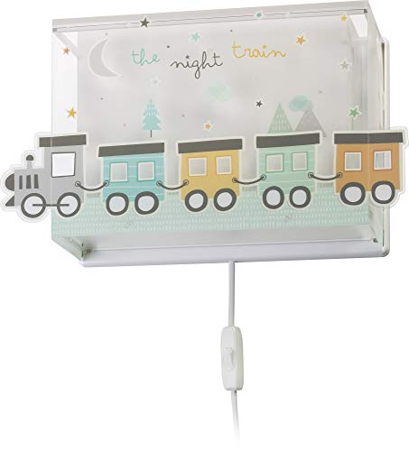 Dalber Lámpara infantil Aplique Pared The Night Train, 60 W, Multicolor