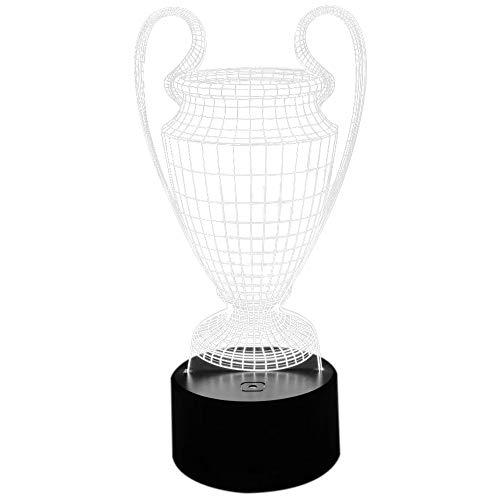 Sonline 3D Fu?Ball Cup Troph?E Lampe 7 Farben ?Ndern 3D LED Nachtlicht Kontakt Taste USB Baby Schlafzimmer Schlaf Luminaria Licht