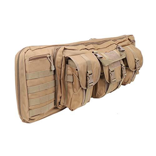 LUVODI Bolsa de Rifle, Funda de Escopeta, Bolsa de Armas Largas, 36 Pulgadas, de Oxford 600D Impermeable, Acolchado, para Caza y Pesca, 91 x 30 x 10 cm, Marrón