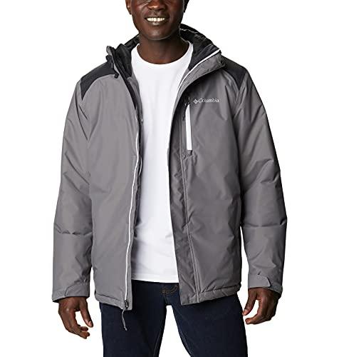 Columbia Men's Tipton Peak Insulated Jacket, City Grey/Black, Large