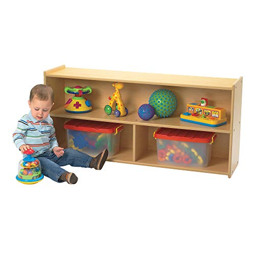 """Children's Factory Angeles Value Line Toddler 2-Shelf Storage – 48"""" by 12' by 23"""" – Perfect for Books, Puzzles, General Supplies – Low Height Ideal for Young Children to Access Contents – Easy to Assemble and Clean"""