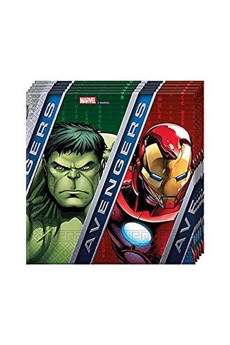 Ciao Procos Lot de 20 Serviettes en Papier « Marvel Avengers Power » 33 x 33 cm 2 Plis Multicolore Référence 86666