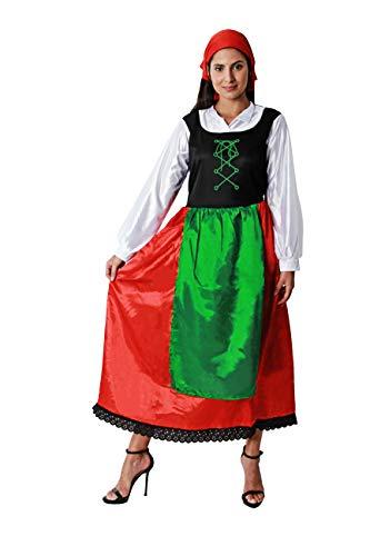 Costumizate! Disfraz de pastora para Mujer Adulta Talla Unica Especial de Navidad