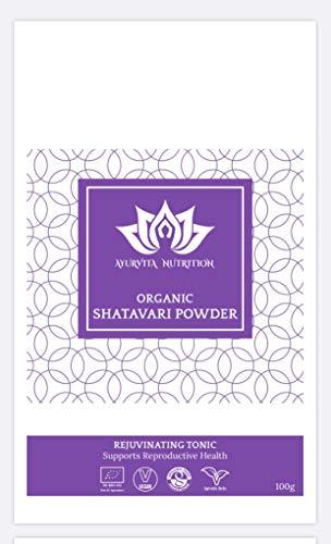 Organic Shatavari Powder 100g by Ayurvita Nutrition