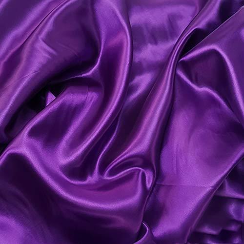MUYUNXI Tela De Raso Forro De Tela para Vestidos De Novias Fundas Artesanías Vestidos Blusas Ropa Interior 150 Cm De Ancho Vendido por 2 Metro(Color:Berenjena Morada)
