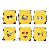 Toyvian Mochila con cordón Mochila Emoticon Bolsas de Almacenamiento Plegable Mochila para niños 6...