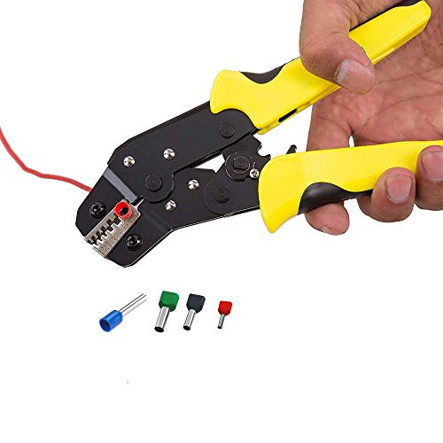 GUOCAO Engaste del sistema de herramienta, de trinquete Wire Crimper con intercambiable Dies herramienta multi-función de la mano de termocontracción Conectores, No aislado, Terminales Ferrule Herrami