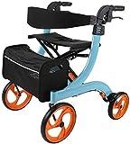Z-SEAT Andador con Andador con Asiento y Ruedas, Andador Ligero para Personas Mayores, ayudas médicas para Caminar, Marco para Caminar con Bolsa de Almacenamiento, Sistema