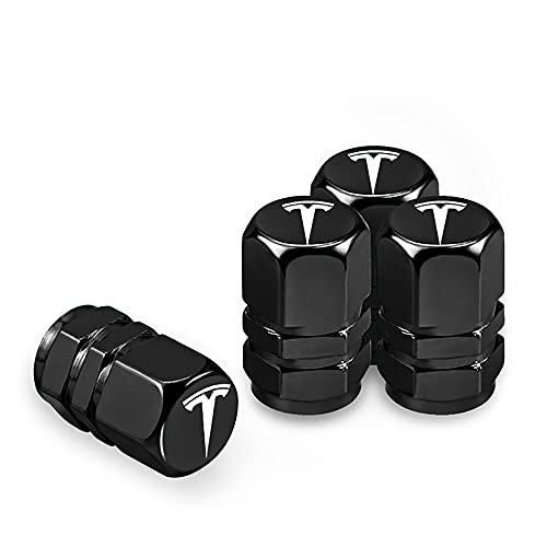 4 Unids/set Llave Portátil Llave de Coche Rueda de Coche Válvula de Neumático Tapas de Boca Tapas de Vástago de Aire de Neumático con Llavero, Para Tesla Modelo 3 5 S X Accesorios de Automóvil