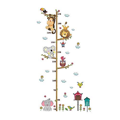 Nicejoy Tabla De Medida Etiqueta De La Pared De La Selva Salvaje Animales Ramificada De Medición Mural De La Pared De La Etiqueta Engomada para Niños Niño Decoración del Dormitorio