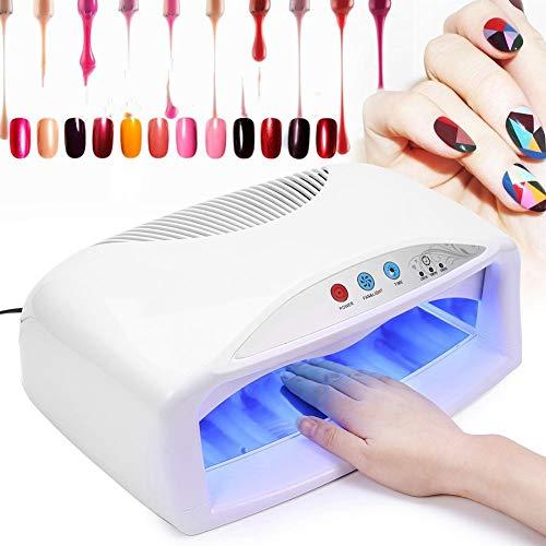 54W UV-spijkerdrogerlamp, sneldrogende manicure-pedicuremachine met ventilator- en timerinstelling voor het drogen van nagelgellak, nail art-ontwerptool voor schoonheidssalon en thuisgebruik