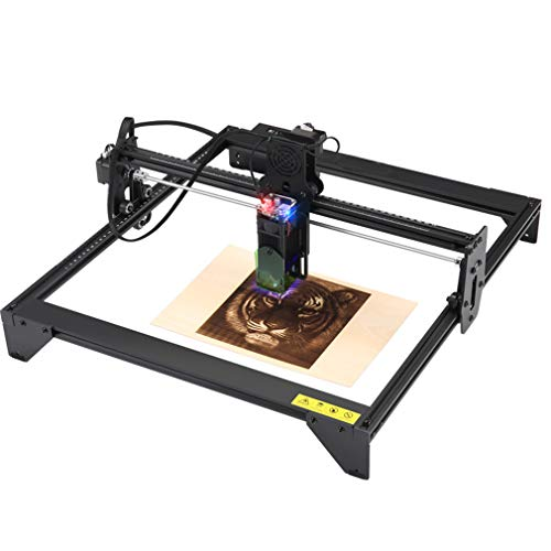 Máquina de grabado láser de 20 W, kit de grabado láser, corte de precisión, instalación rápida, conexión USB, con funda protectora láser, potencia de salida: 5000 mW, 41 x 40 cm