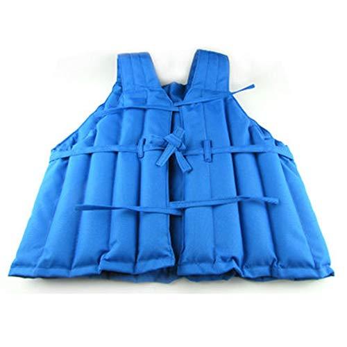 Ajustable chaleco con peso Chaleco de soporte de peso de 8 Kg de arena chaqueta invisible Arena Chaleco Chaqueta peso de la arena del chaleco de ejecutar la capacitación Suministros Azul para el entre
