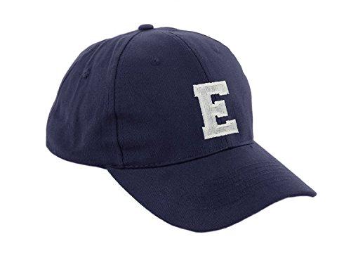 morefaz Unisex Jungen Mädchen Mütze Baseball Cap Marineblau Hut Kinder Kappe Alphabet A-Z TM (E)