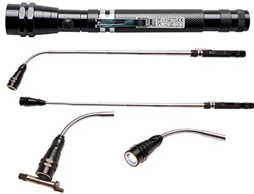 "BGS 9303 | Linterna LED extensible con recogedor magnético | ""2 en 1"""
