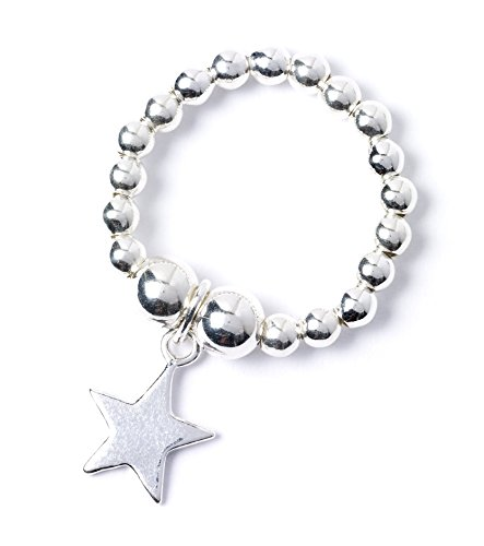 bumble beads Sterling Silber 'Reis und Nudeln' Ball Zehenring mit Stern Charme