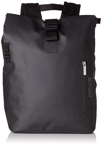 BREE Collection Unisex-Erwachsene Pnch 712, Backpack S Rucksack, Schwarz (Black), 14x36x30 cm