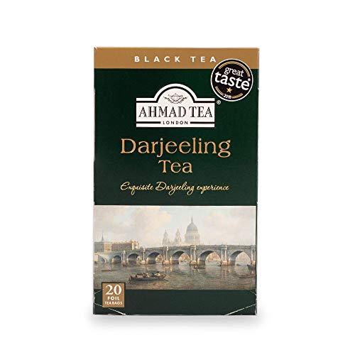 Ahmad Tea Darjeeling Tè Negro, 20 Bolsitas De Té Con Cinta/tagged, 40 Gramo