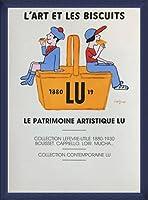 ポスター レイモン サビニャック Liart et les Biscuits 1980 額装品 ウッドベーシックフレーム(ブルー)