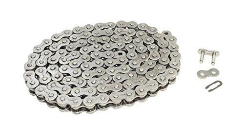 Preisvergleich Produktbild Kette doppelt verstärkt 520er (5 / 8 x 1 / 4) Teilung 108 Glieder offen inkl. Clip Kettenschloss