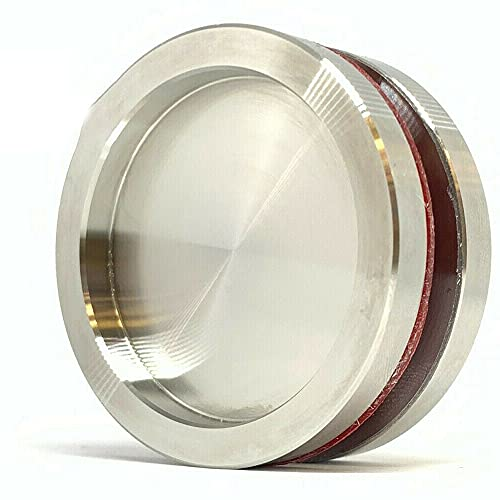Par de tiradores redondos para puertas de cristal con adhesivos 3M incluidos acero inoxidable 5 x 5 x 0,6