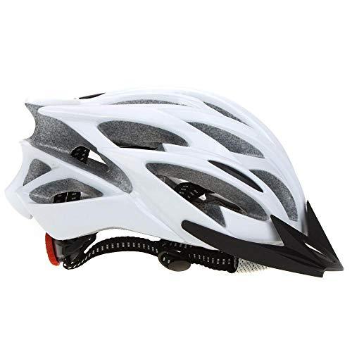 SFBBBO Casco Bicicleta 25 ventilaciones Transpirable Ultraligero Deportes al Aire Libre MTB Ciclismo de Carretera Bicicleta Casco de Patinaje Ajustable Blanco