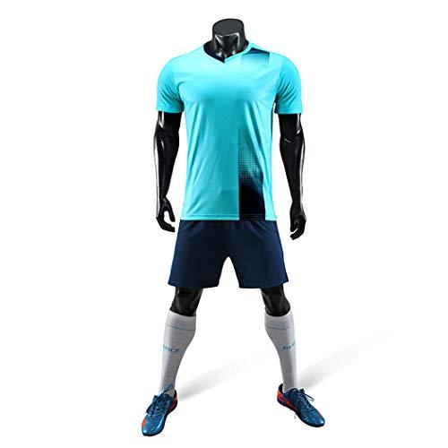 FV Men Sportwear Blank Football Jersey Short Sleevs Team Jersey, Blue