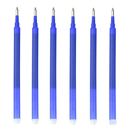 Recargas de 12 piezas para bolígrafos borrables Bolígrafo de recarga de tinta azul borrable de 0,7 mm