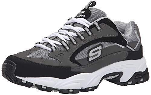 Skechers Sport Men#039s Stamina Nuovo Cutback LaceUp SneakerCharcoal/Black115 M US