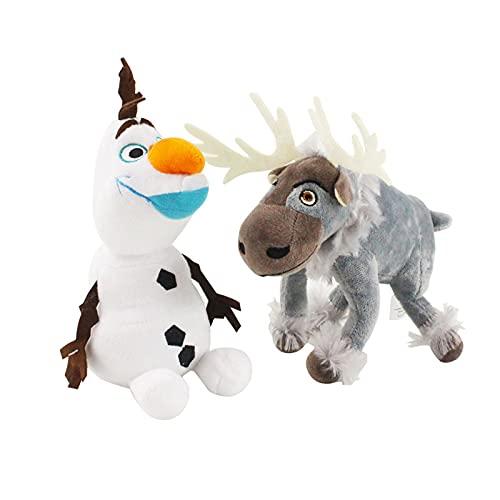 2 unids Muñeco de nieve congelado Olaf Peluche juguetes rellenos de peluche Kawaii Animales de rellena suave para niños Regalos del día de los niños