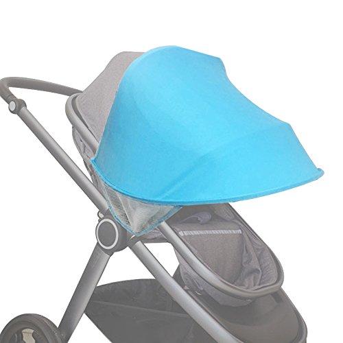 Facibom Cochecito de bebé, visera para carro, parasol para cochecitos y accesorios para silla de coche, capota de sol, color azul