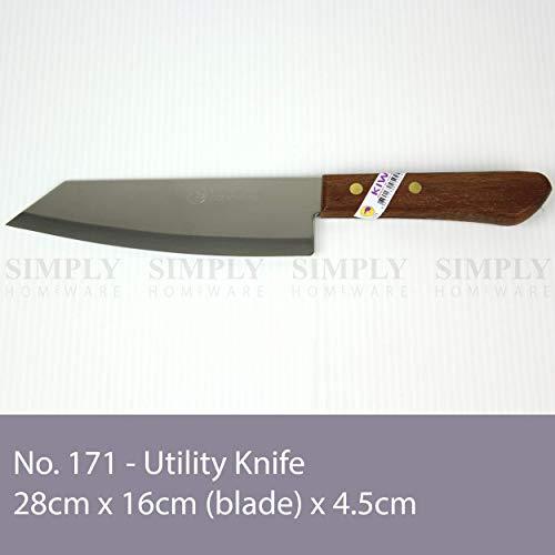 Thailand Kochmesser mit Holzgriff 28 cm Kiwi [Nr. 171]